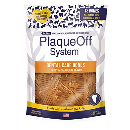 ProDen PlaqueOff Dental Bones Turkey & Cranberry Flavor 17 ounce