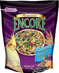 F.M. Brown\'s Encore Cockatiel Food, 5-Pound