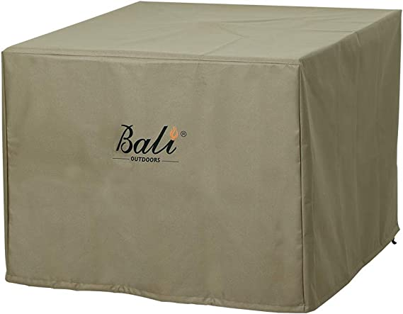 32 inch Fire Pit//Table Cover 32 L x 32 W x 24 H,Beige 600D Heavy Duty Patio Outdoor Fire Pit Table Cover with PVC Coating,100/% Waterproof,Air Vents,Fits for 30//31 Gas Fire Pit Cover Square