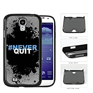 Hashtag Never Quit Black Splatter Paint For Case HTC One M8 Cover Hard Snap on Plastic Cell Phone Cover