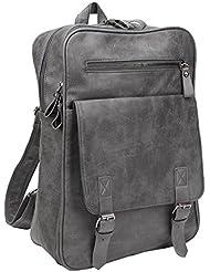 Freeprint Vintage PU Leather Backpack Casual Shoulder Bag for Men