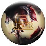 Storm The Lock Bowling Ball, Black/White/Crimson, 16 lb