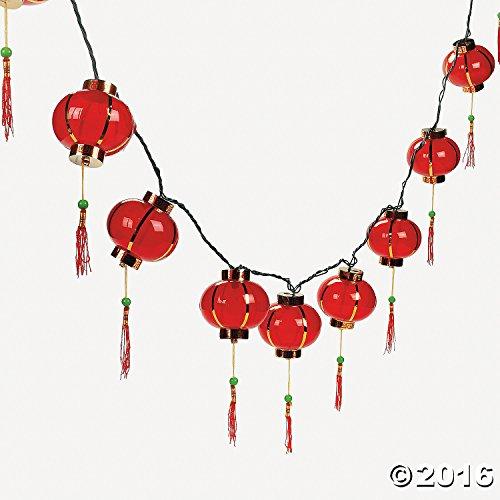 String Chinese Lanterns Poolside Lounge
