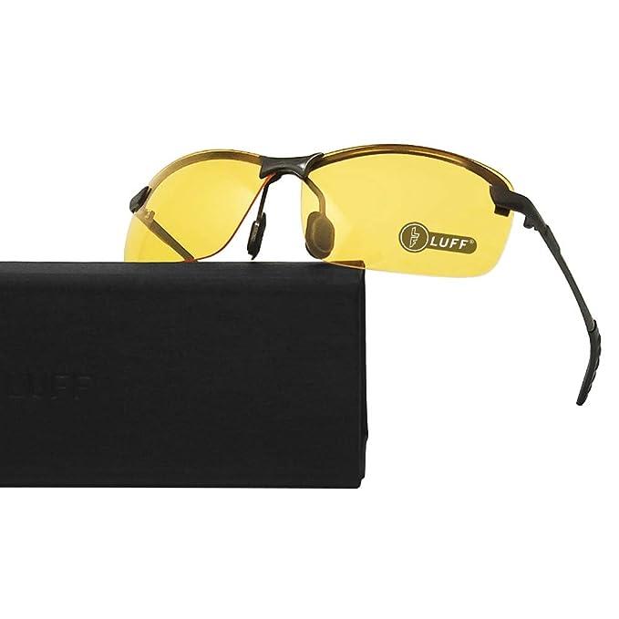 LUFF Gafas de visión nocturna hombres/mujeres con conducción segura, Gafas retro antideslumbrantes con