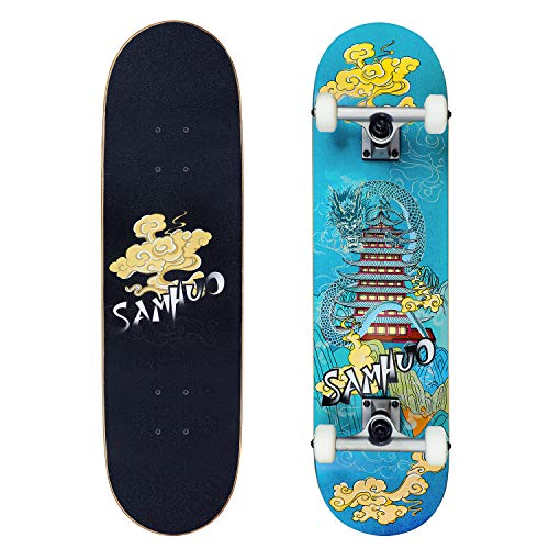 """Idea Skateboards,31""""X 8″ Pro Complete Skateboard, 7 Layer Canadian Maple Skateboard Deck for Extreme Sports and Outdoors"""