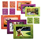 12 Piece Magnetic Picture Frame and Refrigerator Magnets Photo Album Collage ...