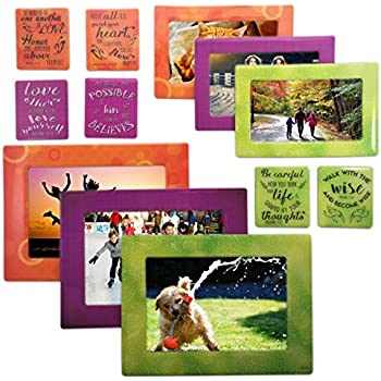 Amazon.com - Magnetic Photo Frame for Refrigerator Securely holds ...