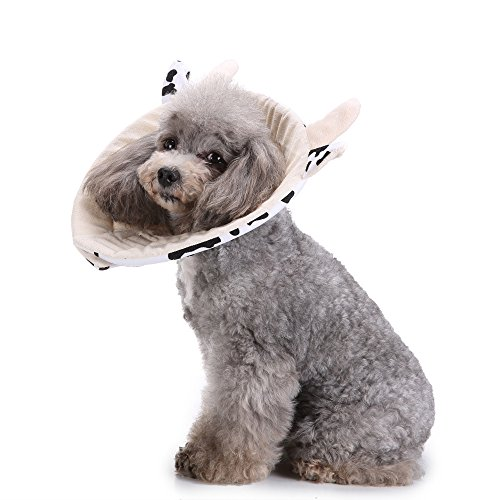 S-Lifeeing Dogs Cats Medical Grooming Pet E-Collar Recovery Remedy Cone Protective Dog Lick Caught Soft Sponge Adjustable Postoperative Kit For Small and Medium Dog ()