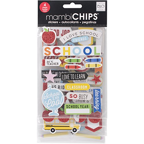 Me & My Big Ideas Chipboard Value Pack-I Love School