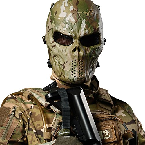 Back To Search Resultshome Hot Camouflage Hunting Accessories Masks Ghost Tactical Outdoor Military Cs Wargame Paintball Airsoft Skull Full Face Mask Hot Lustrous
