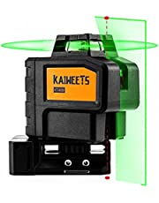 KAIWEETS Rotary Laser Level KT360B, Self-Leveling Green Laser Line, 360° Horizontal and Vertical Line with 2 Plumb Dots, Pulse Mode up to 197ft, Long Working time for 36H with 2 Rechargeable Batteries