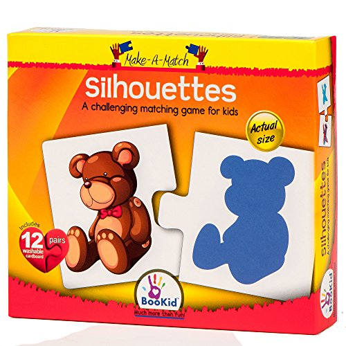 Bookid Toys Make A Match Puzzles (2 Parts) (Silhouettes)