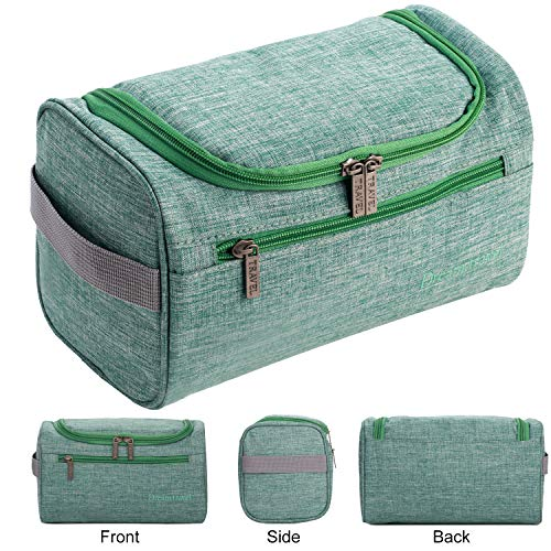 Travel Toiletry Hanging Bag for Men and Women, Personal Care Cosmetic Toiletries Organizer (Green)