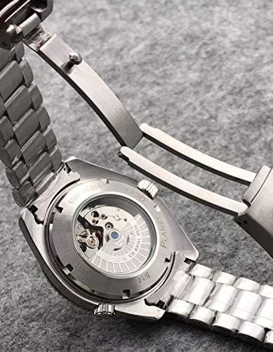 MKOIJN Luxe Merk Zakelijke Horloges Heren Automatische Mechanische Horloges Blauw Zwart Keramiek Roestvrij Staal Saffier Kijkglas Achterkant 5
