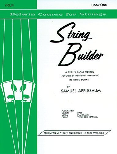 - String Builder Violin Book One (Belwin Course for Strings) by Samuel Applebaum (1985) Paperback