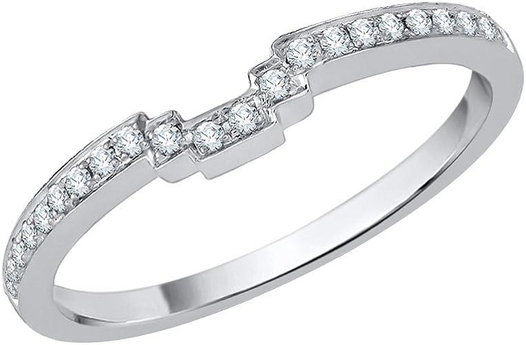 G-H,I2-I3 1//10 cttw, Size-11 Diamond Wedding Band in 10K White Gold
