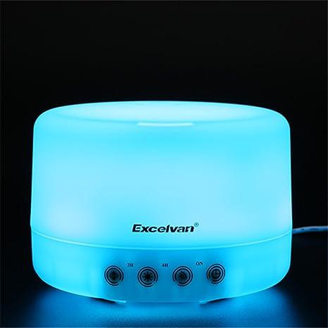 Excelvan 500 ml difusor de aroma humidificador de aire por ultrasonido LED ambientador humidificador aromaterapia difusor