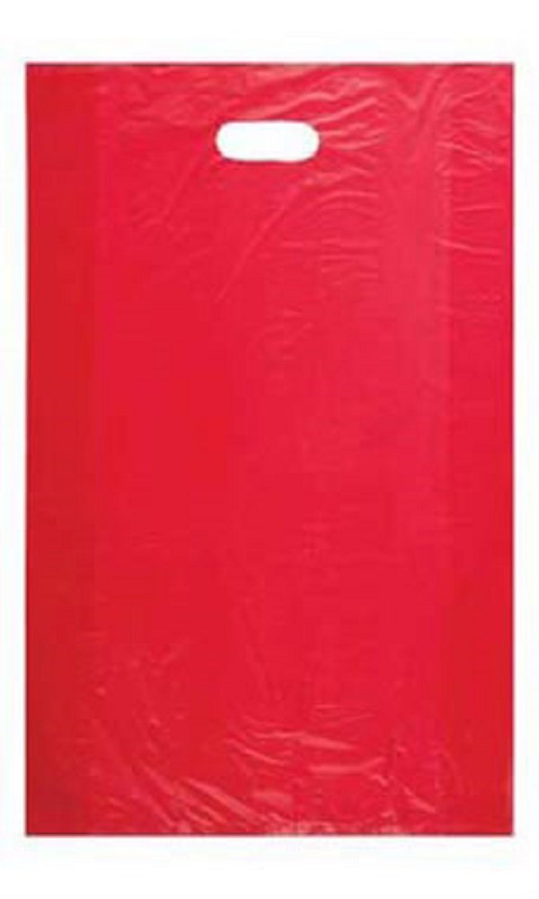 Large High Density Red Plastic Merchandise Bags - Case of 1,000
