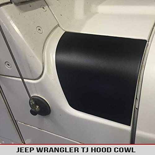 Jeep Wrangler TJ Hood Cowl Pair Decals Matte Black Air release Fit 1997-2006 AlphaVinyl