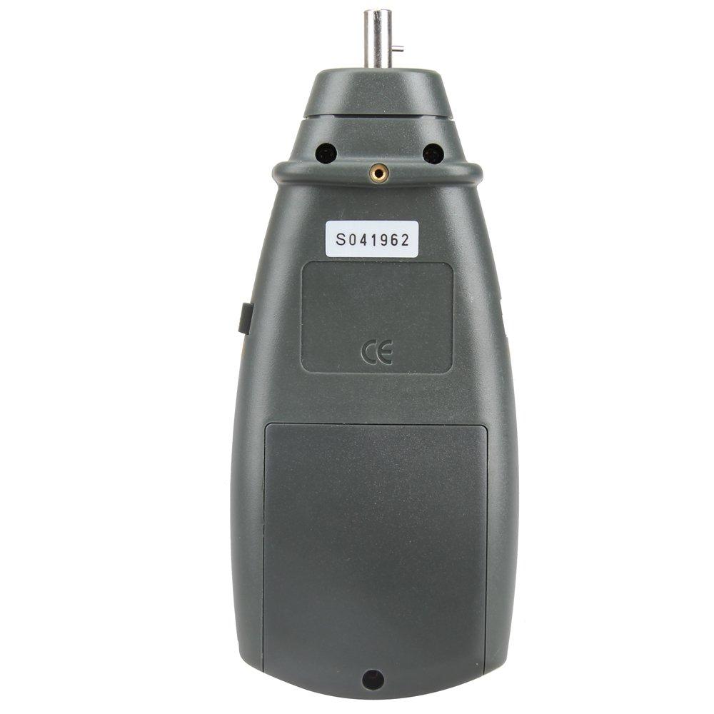 Vktech DT6235B Digital Contact Tachometer RPM Meter Surface Speed Meter Speedo Gift Pro