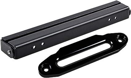 254mm Flip-Up Mounted License Plate Holder Kit Astra Depot 10 High-Grade Aluminum Hawse Fairlead 8000-15000 LBs