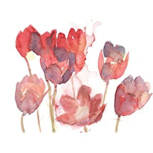 Floral Watercolor Painting - Fine Art Print, Wall Decor, Gift, Tulips 10