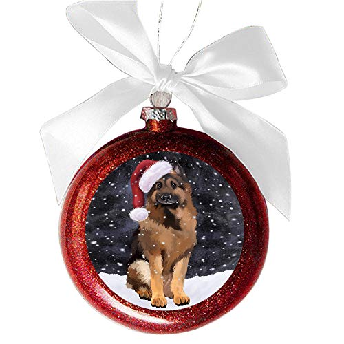 Amazon Com Let It Snow Christmas Holiday German Shepherd Dog Red