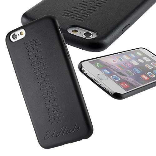 The Revel iPhone 6S Plus Case- Ultra Thin Slim Fit, Premium PU Leather Back Cover Skin Bumper for iPhone 6S Plus & iPhone 6 Plus. A Grippy and Protective Hard Shell in Durable & Stylish Espresso Black