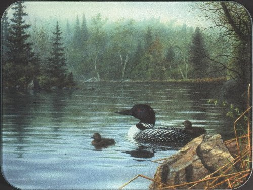 (Tuftop Loons in the Mist Cutting Board Size: Medium (12x16) by McGowan)