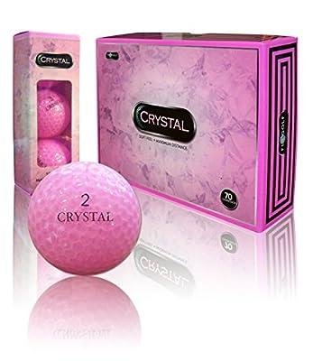 Crystal Golf Brand Golf Balls (Pink)
