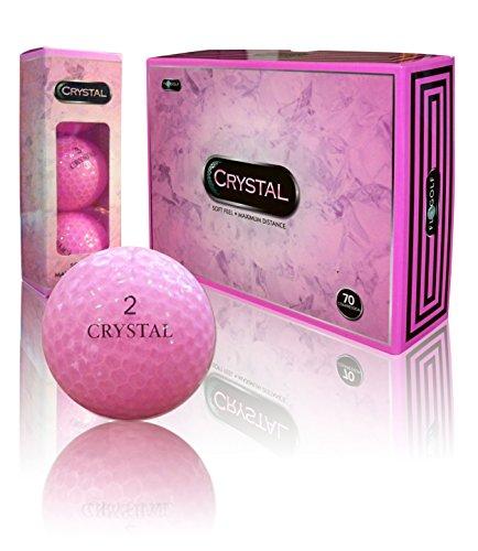 - Crystal Golf Brand Golf Balls (Pink)