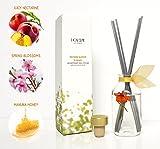 LOVSPA Nectarine Blossom & Honey Essential Oil Reed Diffuser Gift Set | Nectarine & Peach Sorbet, Blackcurrant, Plum, Spring Blossoms & Manuka Honey | Best Gift Idea! Vegan. Made in The USA