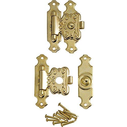 Brass Decorative Jewelry Box Latches, Pair