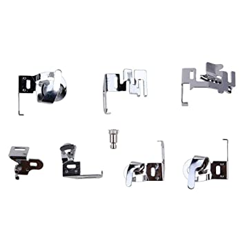 Prensatelas Accesorios para Máquina de coser Matefielduk 7pcs / set Set Prensatelas para Pie Plegable para máquinas de coser domésticas: Amazon.es: Hogar