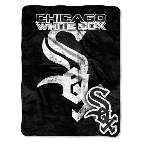 Officially Licensed MLB Chicago White Sox Triple Play Micro Raschel Throw Blanket, 46