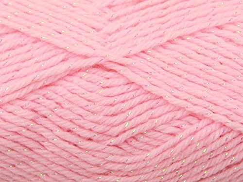 Peter Pan Baby Moondust Knitting Yarn DK 3007 Rose - per 50 gram - Peter Yarn Pan