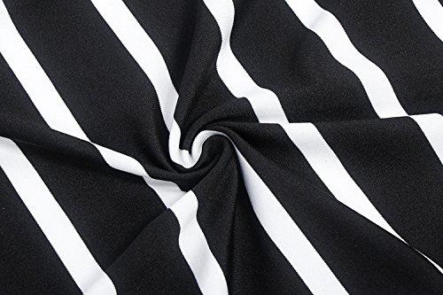 Donne Vestiti Da Giorno Estivo Corti Bianco E Nero Stripe Elegante Tubino Pacchetto Hip Vestiti Casual Senza Schienale Senza Maniche Vestito Abito