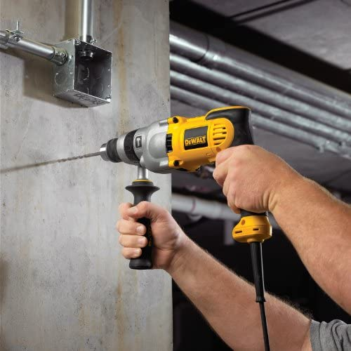 DEWALT Hammer Drill Kit, 1 2-Inch, 10-Amp, Pistol Grip DWD520K