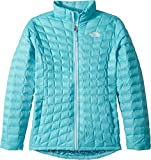 The North Face Kids Girl's Thermoball Full Zip (Little Kids/Big Kids) Algiers Blue Leaf Print/TNF White Medium