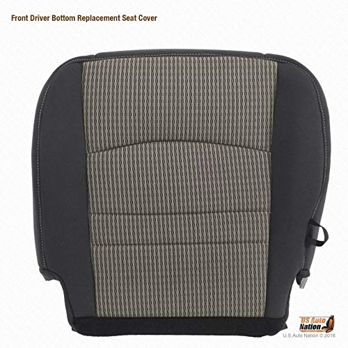 US Auto Nation 2009-2012 Fits Dodge Ram 1500 2500 3500 SLT -Driver Side Bottom Cloth Seat Cover Gray