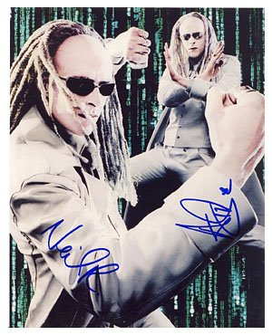 (The Matrix: Rayment Twins 8x10 Autographed)