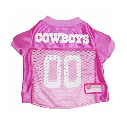 Pet Care Preferred Dallas Cowboys Pink Dog Jersey - Large