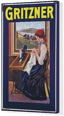Máquinas de coser Gritzner Impresión de Lienzo de, publicidad ...