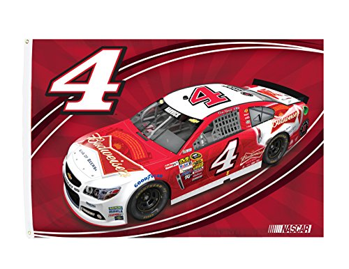 KEVIN HARVICK FLAG-HUGE 3'X5' NASCAR #4 KEVIN HARVICK FLAG-NEWEST ()