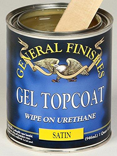 General Finishes SQ Gel Topcoat, 1 quart, Satin (General Finishes Gel)