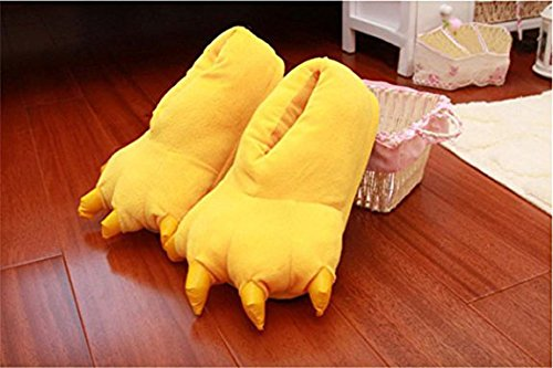 Slippers Warm Adult Shoes Animal Paw Plush YUWELL Slippers Soft Slippers Claw Yellow Homewear Fuzzy PX6gqB