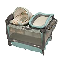 Graco Pack 'n Play Playard Bassinet Changer with Cuddle Cove Rocking Seat, Wi...