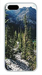 Case For Iphone 5/5S Cover landscapes nature mountain trees 10 PC Custom Case For Iphone 5/5S Cover Cover White