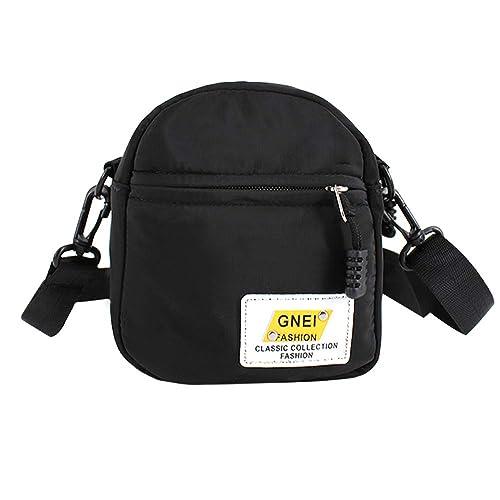 97ea3184bf3b Van Caro Nylon Crossbody bag-Checkerboard Cell Phone Pouch Wallet Purse  Shoulder Bag Travel Packs for Unisex