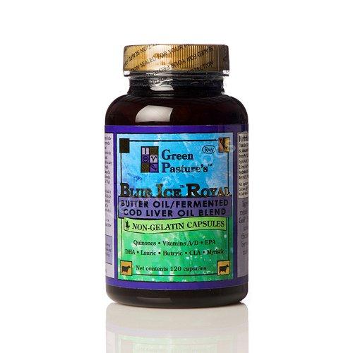 Blue Ice Royal Butter Oil / Fermented Cod Liver Oil Blend - Capsules